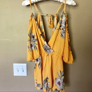 Topshop Pants - NWT Topshop Yellow Floral Posie Romper